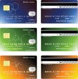 Disegno delle carte di credito Fotografia Stock Libera da Diritti