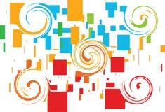 Disegno delle caselle con il turbinio Immagini Stock Libere da Diritti