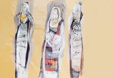 Disegno delle donne bulgare tradizionali Fotografia Stock