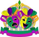 Disegno delle maschere di martedì grasso royalty illustrazione gratis