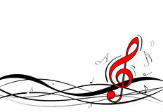 Disegno delle note di musica Fotografie Stock Libere da Diritti