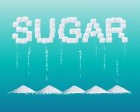 Disegno dello zucchero Fotografia Stock