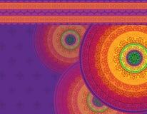 Disegno dettagliato della mandala Fotografie Stock