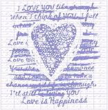 Disegno di amore Fotografia Stock Libera da Diritti