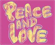Disegno di amore e di pace   illustrazione vettoriale