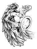Disegno di angelo Fotografia Stock