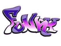 Disegno di arte dei graffiti, funky Fotografia Stock Libera da Diritti
