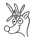 Disegno di arte di festa della renna di natale Immagine Stock Libera da Diritti