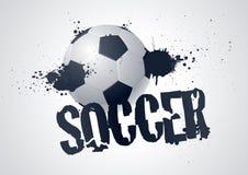 Disegno di calcio di Grunge Fotografia Stock