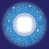 Disegno di circuito circolare elettronico con copyspace royalty illustrazione gratis