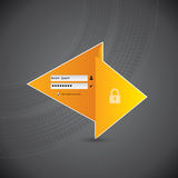 Disegno di collegamento di Origami con le piste della gomma Fotografie Stock