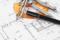 Disegno di costruzione Fotografie Stock