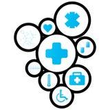 Disegno di Digital del fondo medico Fotografie Stock