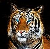 Disegno di Digital di una tigre Immagine Stock