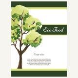 Disegno di Eco Tema di ecologia di vettore Modello per il prodotto verde Immagine Stock Libera da Diritti
