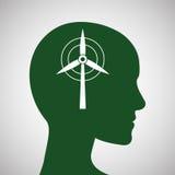 Disegno di ecologia protezione e concetto verde Fotografia Stock Libera da Diritti