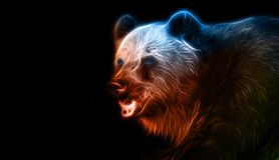 Disegno di fantasia di Digital di un orso Fotografia Stock Libera da Diritti