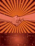 Disegno di Festa del Lavoro con la stretta di mano dell'operaio Immagine Stock Libera da Diritti