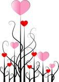 Disegno di forma del cuore di vettore Fotografia Stock Libera da Diritti