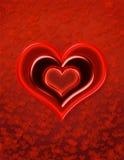 Disegno di giorno dei biglietti di S. Valentino Immagini Stock Libere da Diritti
