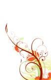 Disegno di Grunge dei fiori Fotografia Stock