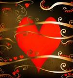 Disegno di Grunge per il giorno di biglietto di S. Valentino Fotografie Stock