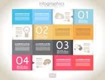 Disegno di Infographic - etichette della carta originale Fotografia Stock