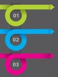 Disegno di Infographic su documento scuro Immagini Stock