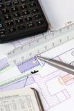 Disegno di ingegneria 1 Immagini Stock