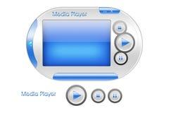 Disegno di interfaccia del lettore multimediale Immagine Stock