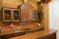 Disegno di lusso della cucina Fotografia Stock