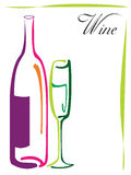 Disegno di marchio del vino Immagini Stock Libere da Diritti