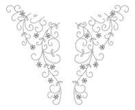 Disegno di modo del hennè del Neckline Immagine Stock