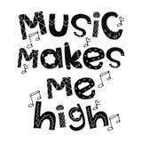 Disegno di musica Immagine Stock