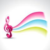 Disegno di musica di vettore Fotografie Stock