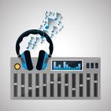 Disegno di musica Illustrazione Concetto di intrattenimento illustrazione di stock