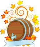 Disegno di Oktoberfest con il barile Fotografia Stock