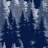 Disegno di profilo della foresta attillata. immagine senza cuciture Fotografia Stock Libera da Diritti