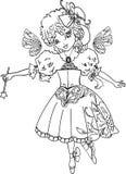 Disegno di profilo leggiadramente del fumetto Fotografia Stock