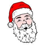 Disegno di risata felice di scarabocchio di Santa royalty illustrazione gratis