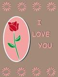 Disegno di rosa del blocco per grafici del modello di colore rosso Fotografie Stock Libere da Diritti