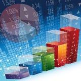 Disegno di scambio del mercato azionario Fotografia Stock