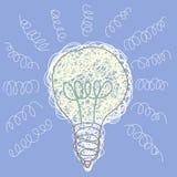 Disegno di scarabocchio della lampadina Immagine Stock Libera da Diritti