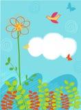 Disegno di scheda decorativo Fotografia Stock Libera da Diritti