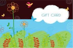 Disegno di scheda del regalo Fotografie Stock