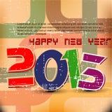 Disegno di scheda dell'nuovo anno   Fotografia Stock Libera da Diritti