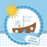 Disegno di scheda della doccia di bambino. illustrazione di vettore Fotografia Stock