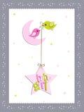 Disegno di scheda della neonata Fotografie Stock Libere da Diritti