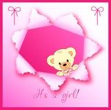 Disegno di scheda della neonata Immagini Stock