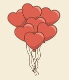 Disegno di scheda di amore Immagini Stock